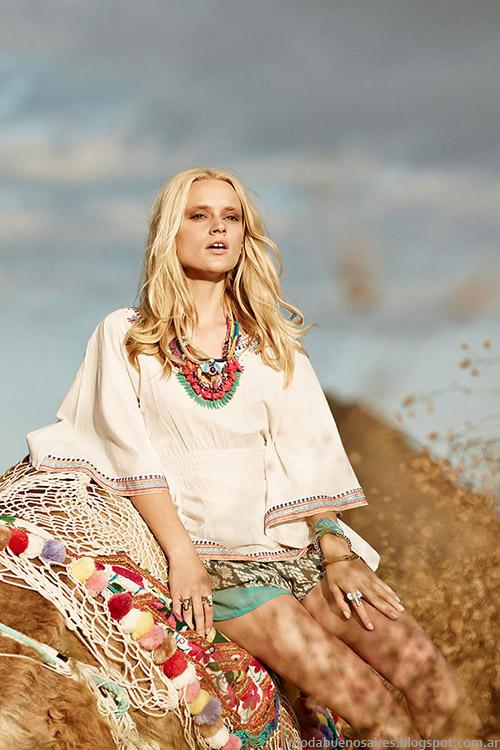 Moda primavera verano 2015 túnicas y remeras Inda Style.