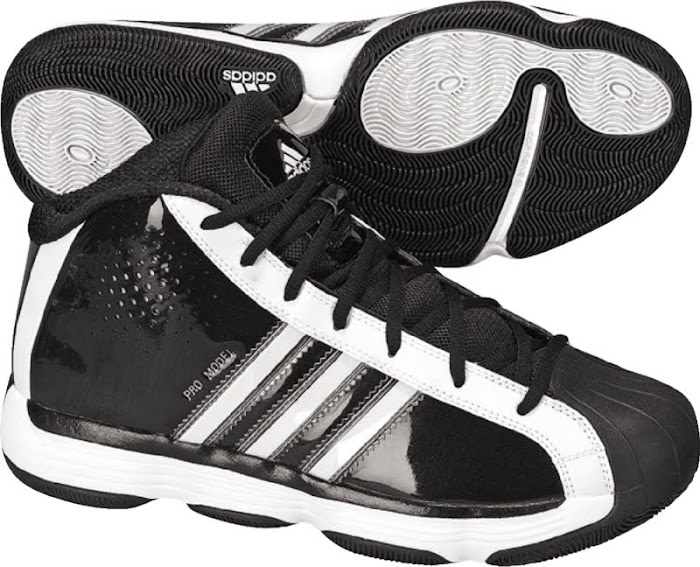 Adidas Black/white Women's pro model shoes