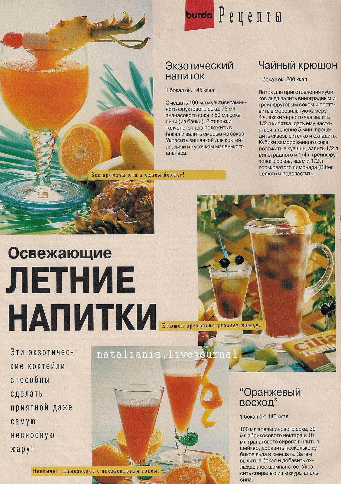 Рецепты летних напитков