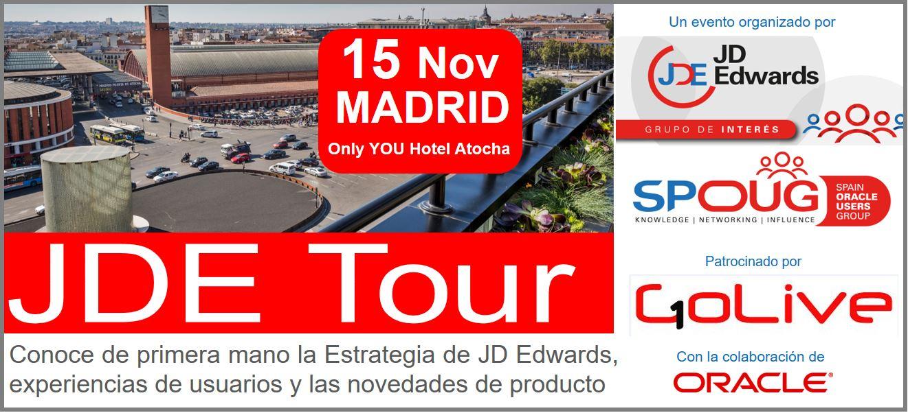Evento: 15 Noviembre JDE Tour Madrid