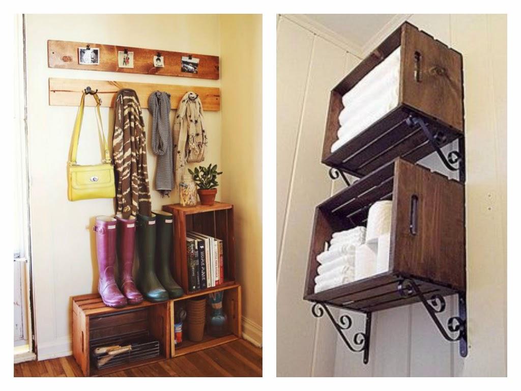Rogiamstore trasformare una cassetta di legno in un pezzo - Scalette per librerie ...
