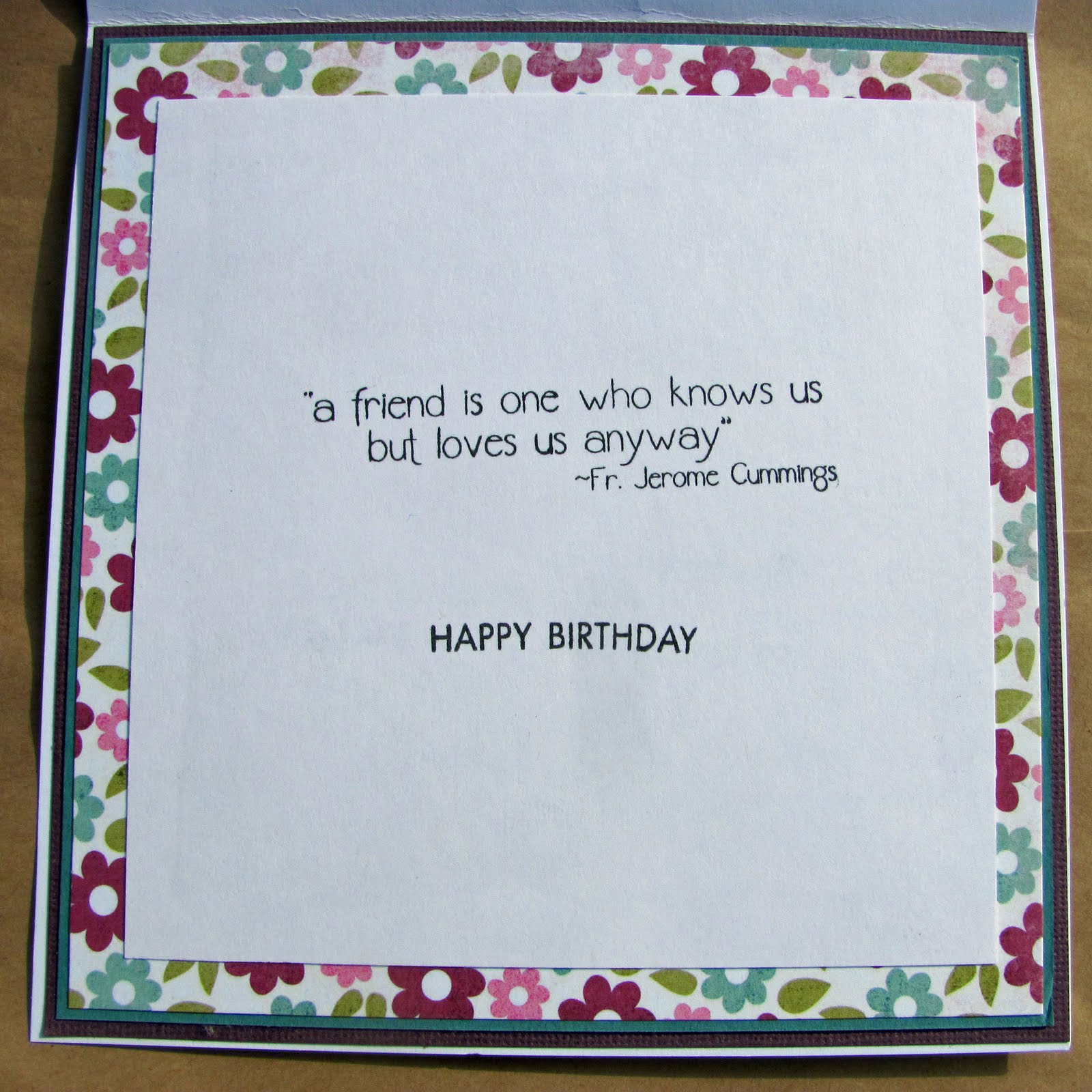 stampinggem bff birthday card for liz, Birthday card