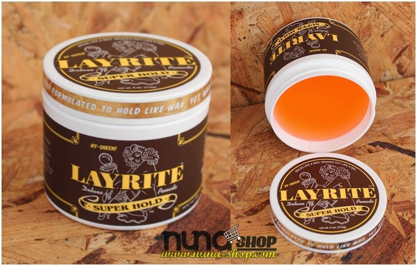 Layrite Super Hold Superhold Deluxe Pomade 4 oz Rockabilly Hair Greaser Shine