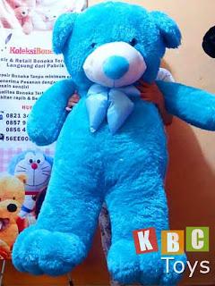 jual boneka teddy bear besar warna biru ukuran 1 5 meter