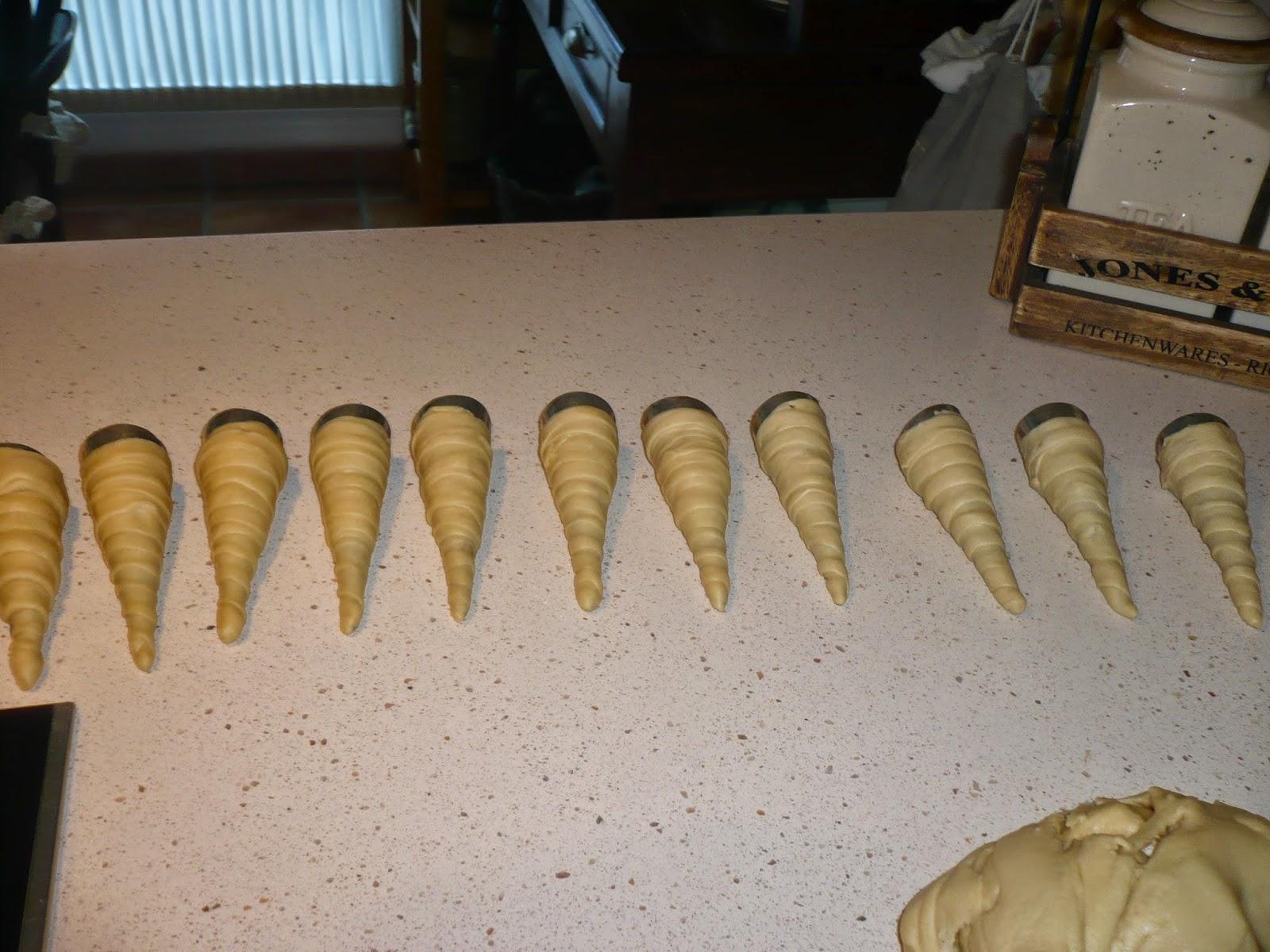 cañas de crema pastelera