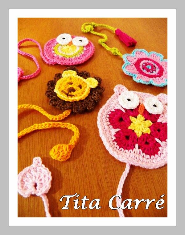 Marcadores muito fofos em crochet