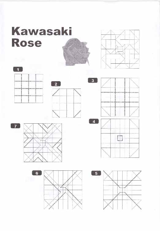 origami kawasaki rose origami kawasaki rose rh origami kawasaki rose blogspot com kawasaki rose phu tran diagram new kawasaki rose diagram