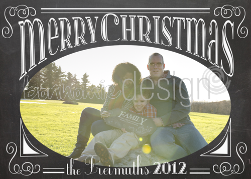 printable chalkboard holiday photo card by bonhomieEVENTS