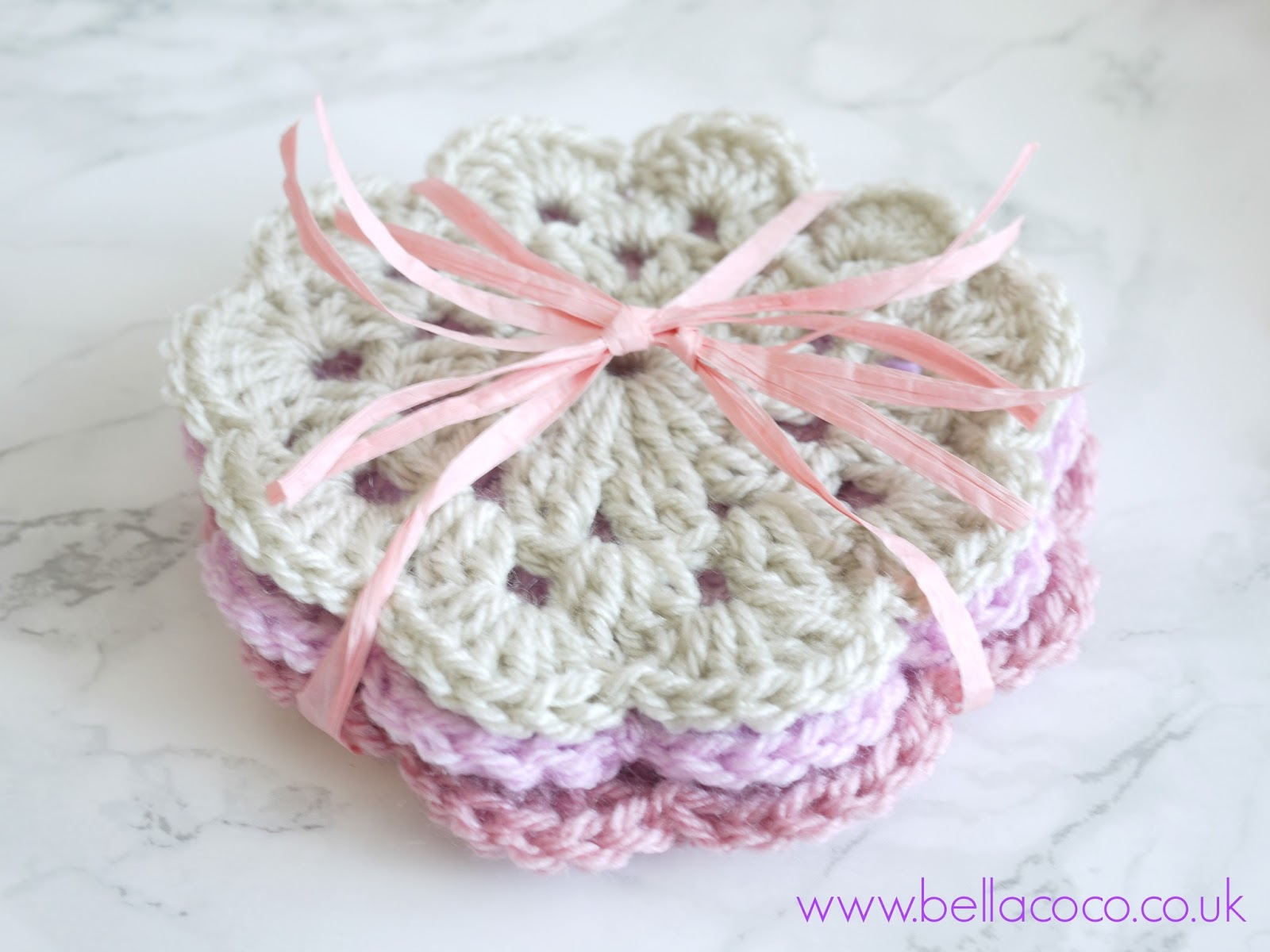 Crochet coasters pattern free pattern and video tutorial crochet coasters bankloansurffo Choice Image