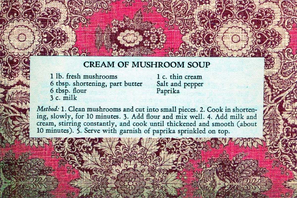 Cream of Mushroom Soup (quick recipe)
