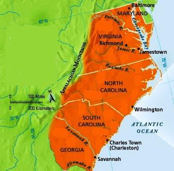 Colonial american digressions some colonial geography the colonies