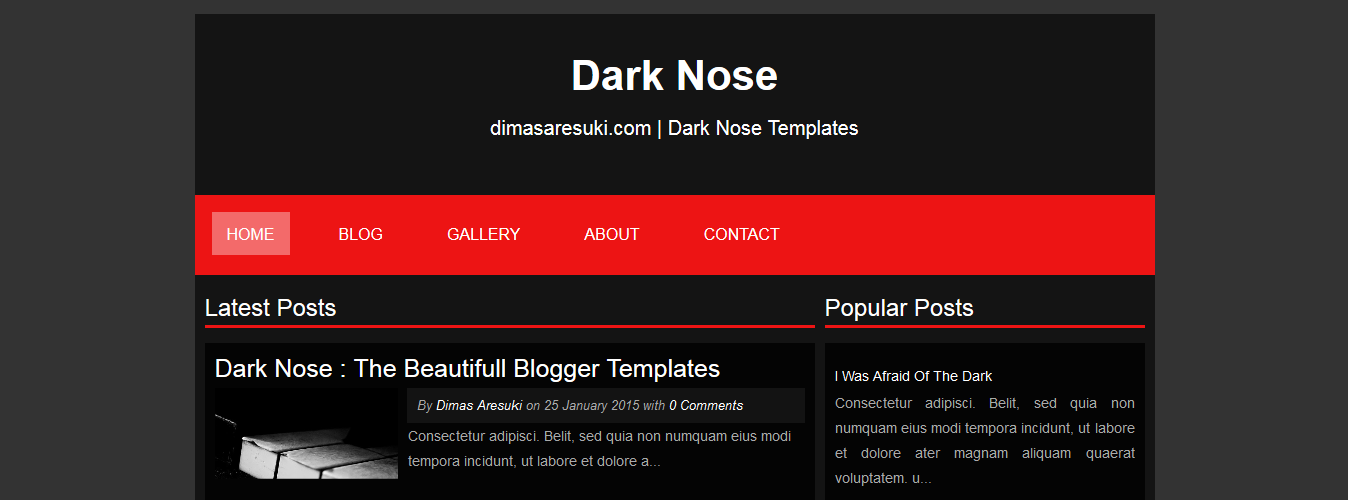 Dark Nose Blogger Template