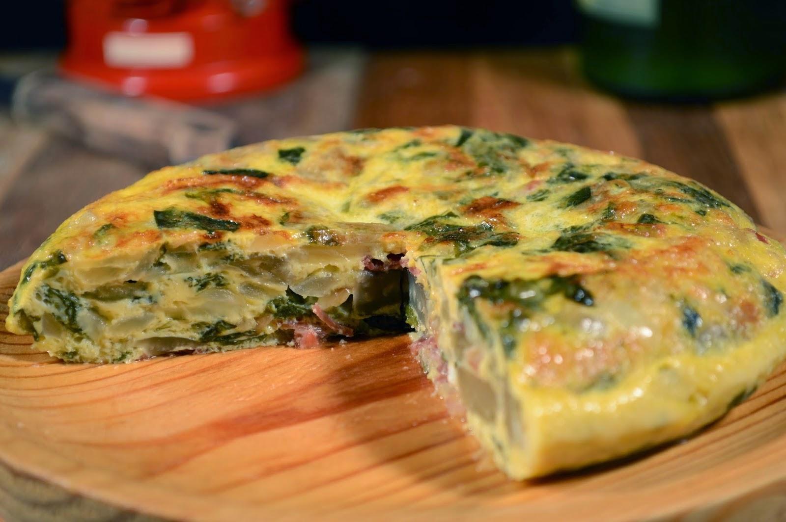 Tortilla de acelgas y jamón