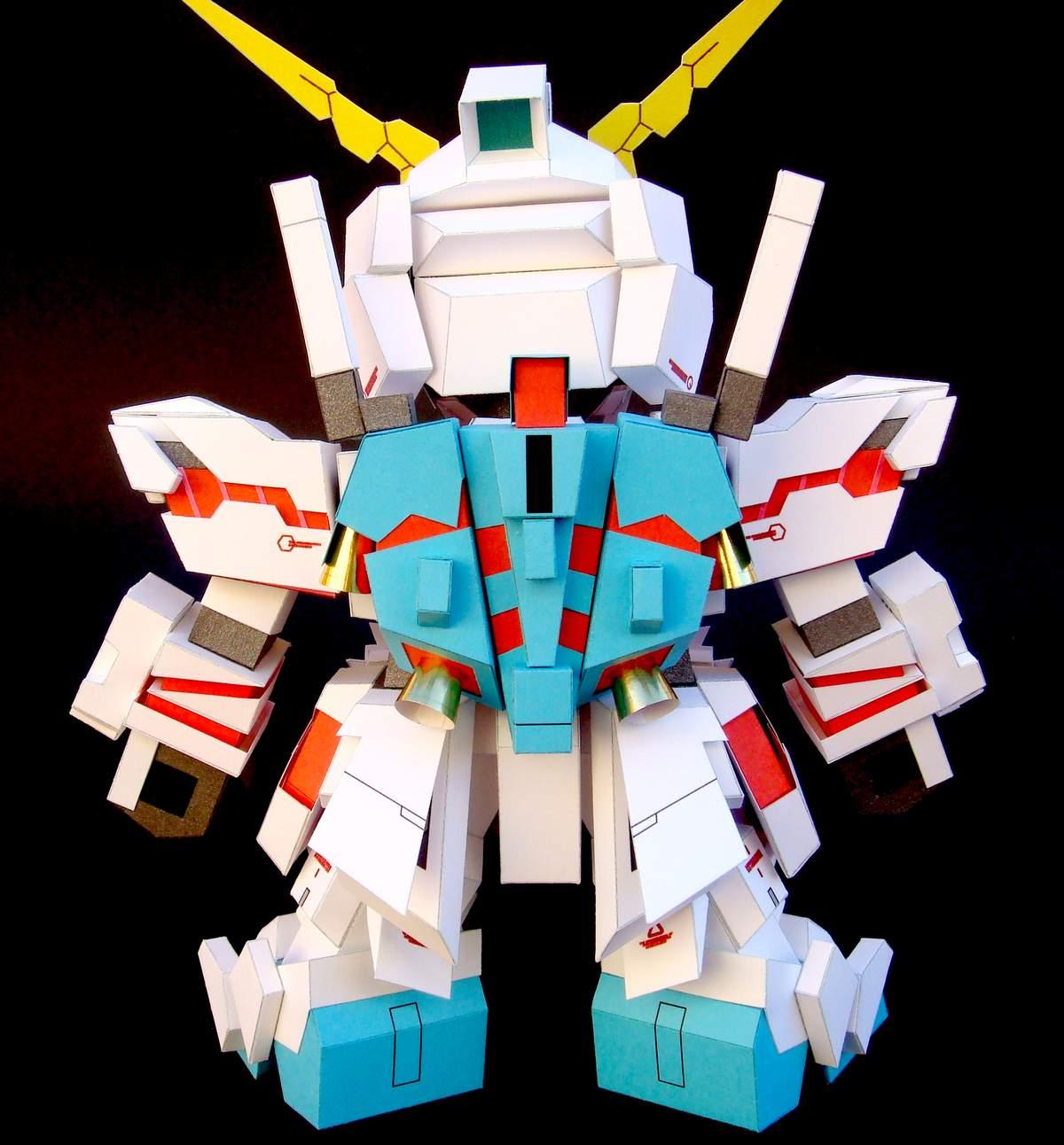 Wxy: Atochero Papercrafts: SD Unicorn Gundam (by.wxy