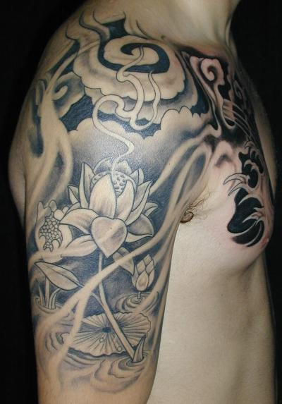 skull sleeve tattoos. skull sleeve tattoos.