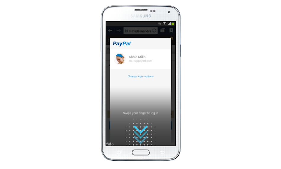 Login to PayPal using fingerprint with Samsung Galaxy S5@technofia.com