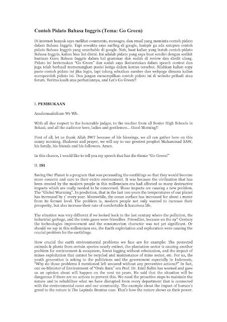 Text atau naskah pidato bahasa indonesia yang baik dan benar