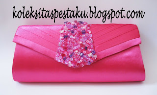 Tas Pesta - Clutch Bag Pink fanta