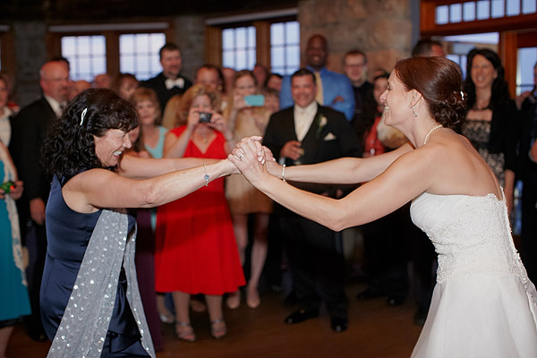 Narragansett Towers Wedding: mother and bride dance