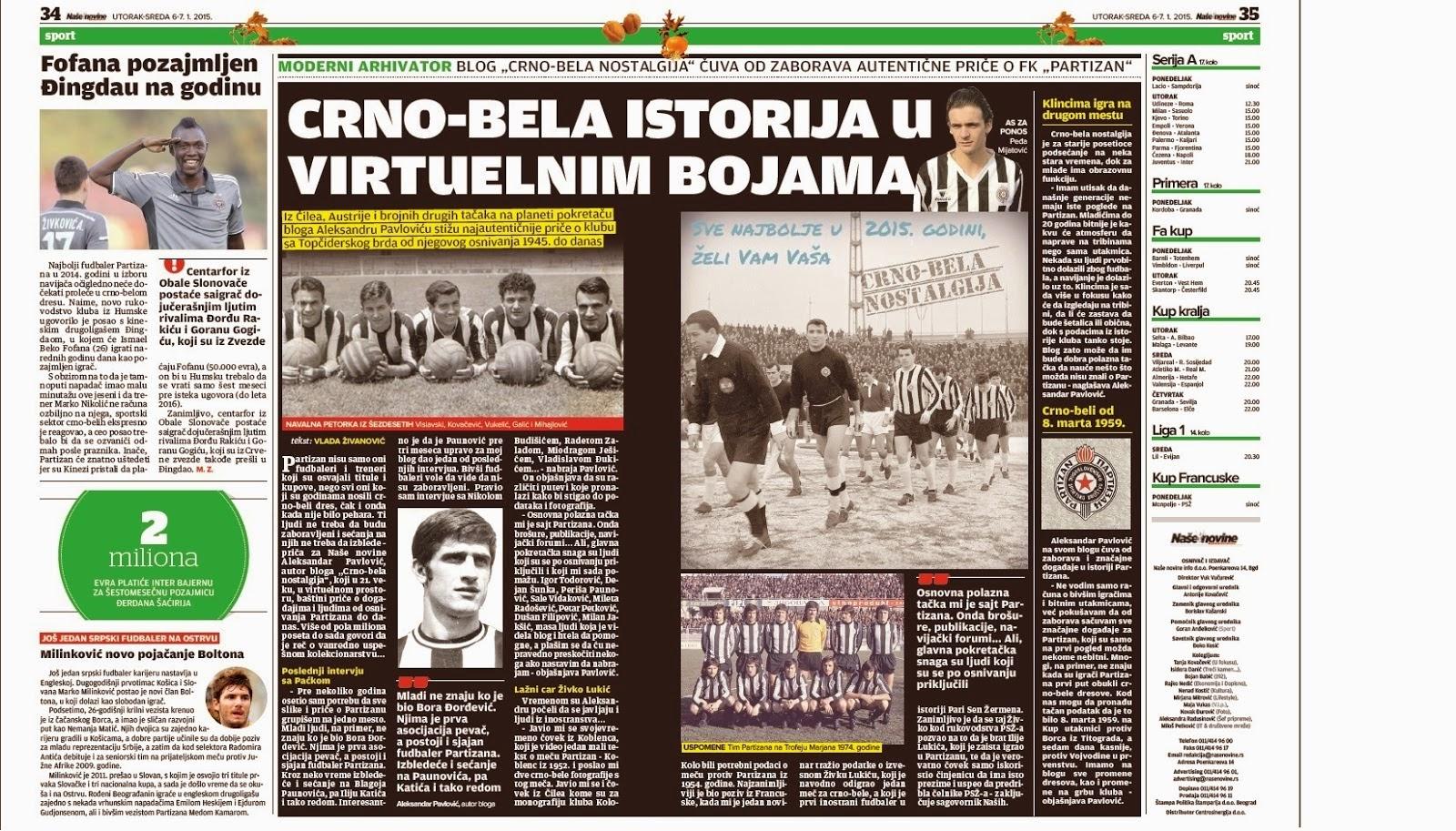 """""""Naše novine"""", 06.01.2015."""