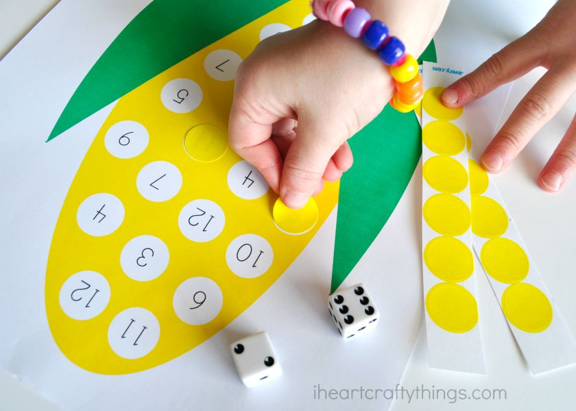 Preschool Corn Counting Activity Printable on Writing Letters 3 Worksheets For Preschoolers