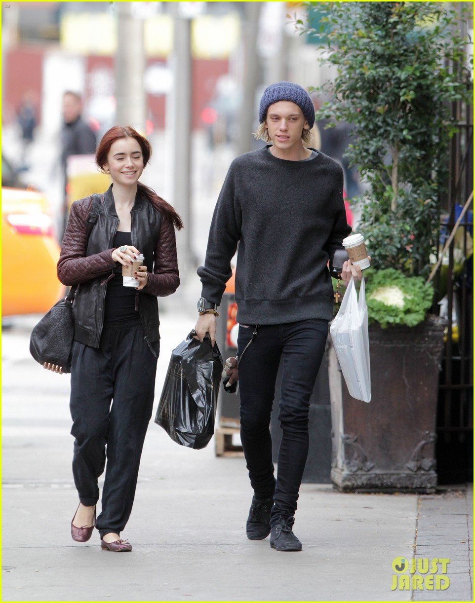 Lily Collins and Jamie Campbell Bower at TorontoJamie Campbell Bower And Lily Collins