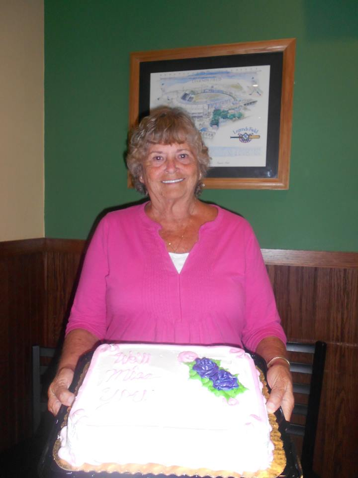 Ladies Auxiliary - saying good-bye to a friend