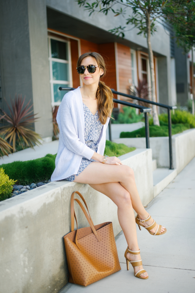 cozy cardigan and romper spring outfit M Loves M @marmar