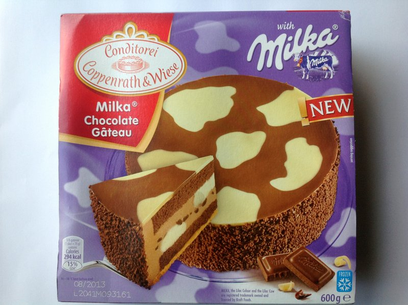 Chocolate gateau supermarket