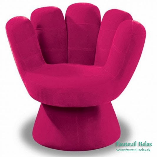 Fauteuil main rose fauteuil relax - Fauteuil forme main ...