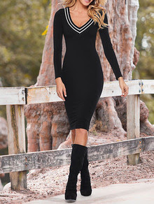 www.shein.com/Black-Long-Sleeve-V-Neck-Dress-p-239665-cat-1727.html?aff_id=2687