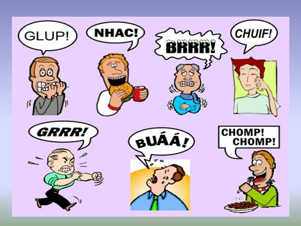 Exemplos de onomatopeia