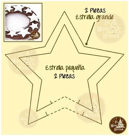 El minihogar - Plantilla estrella navidad ...