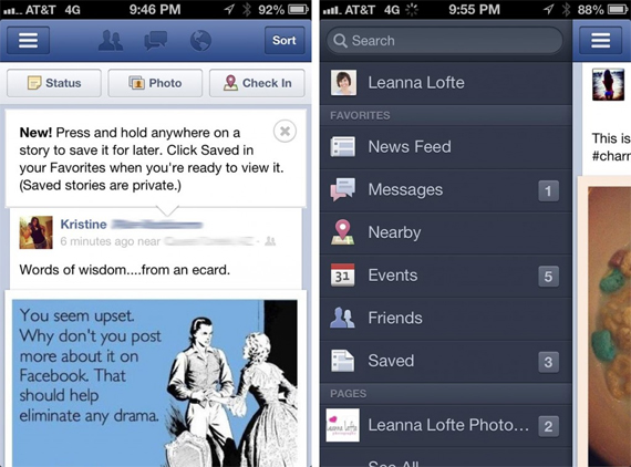 Asa va arata functionalitatea Facebook Save for Later pe dispozitive mobile