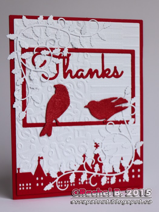 Handmade card, Impression Obsession, Thanks