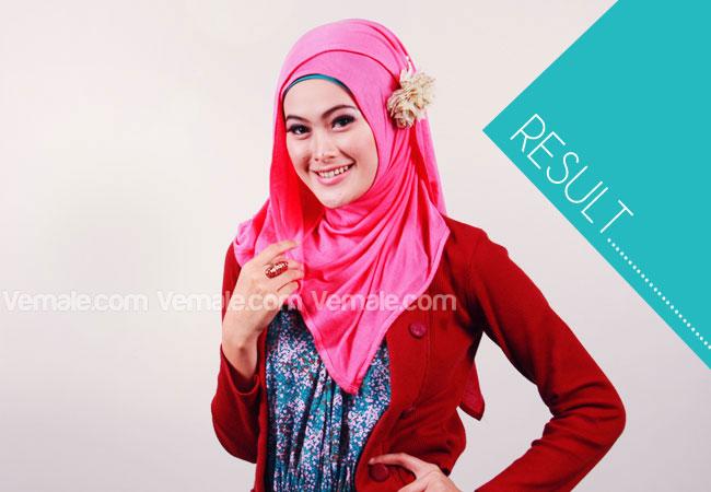 Gaya Modis Dan Praktis Dengan Jilbab Pashmina Bahan Kaos