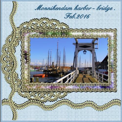March 2016 – Monnikendam harbor - bridge