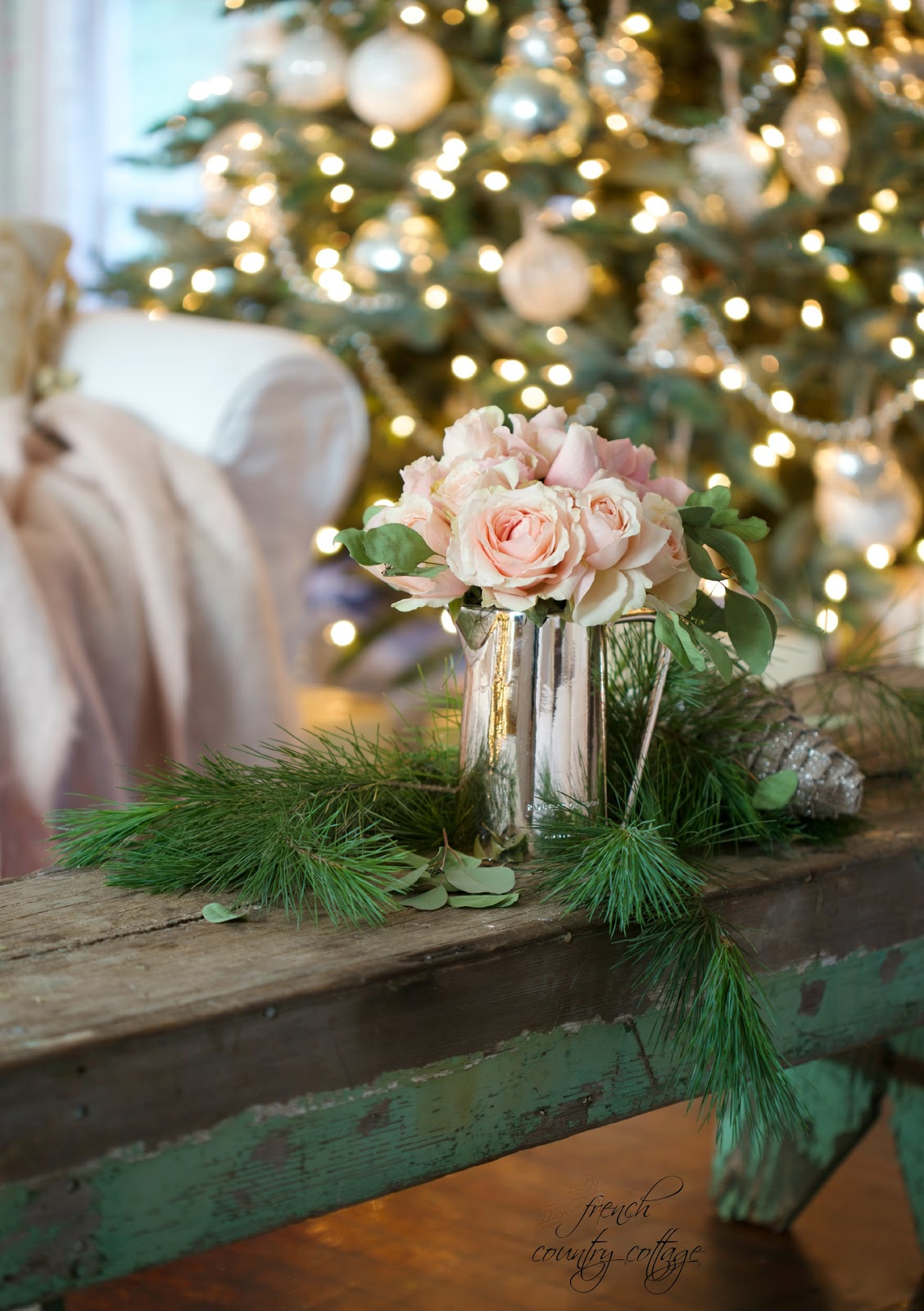 French country cottage christmas home tour french for California floral and home christmas decorations