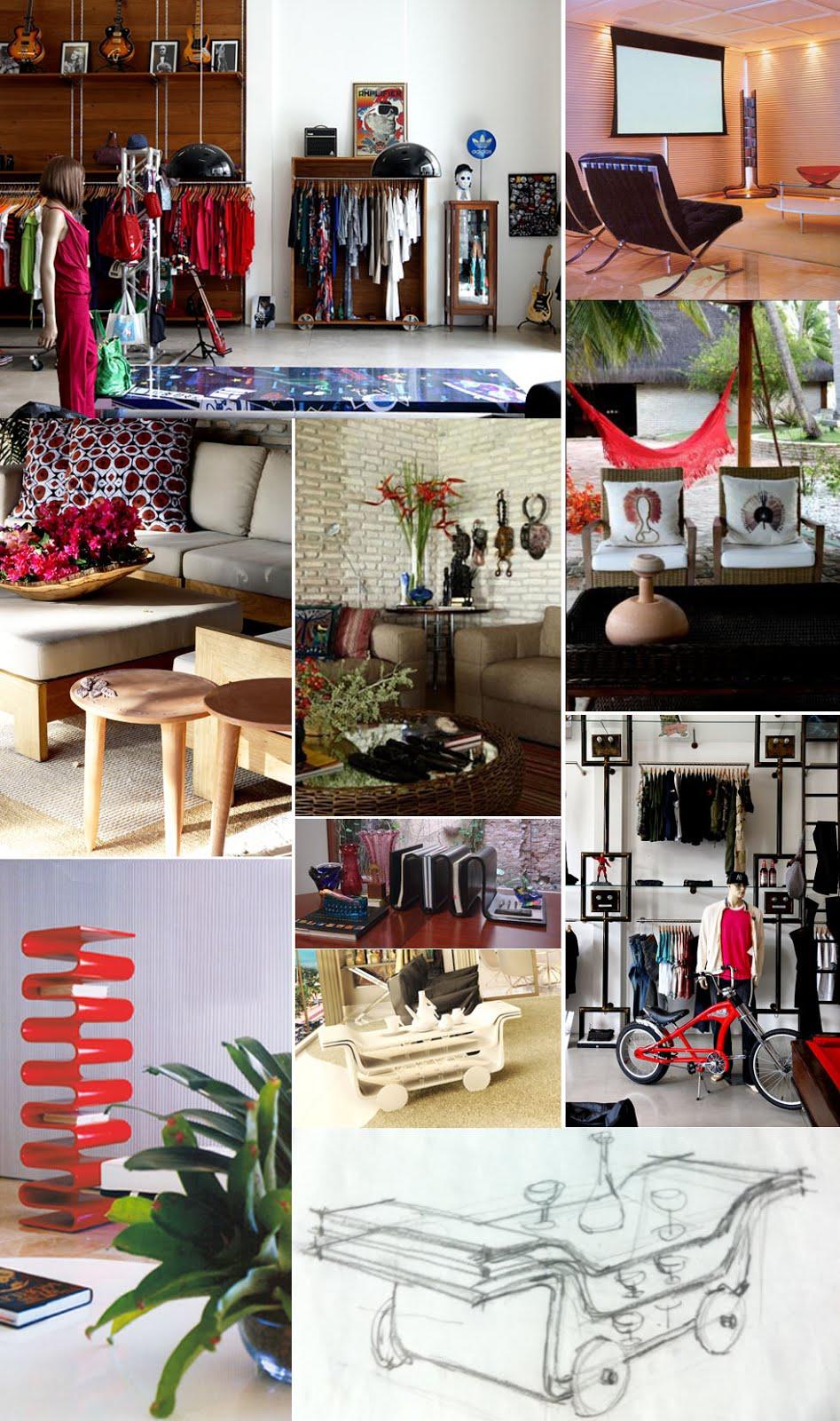 Desenho de produtos e projetos de decoracao