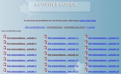 Activités audios  أنشطة صوتية