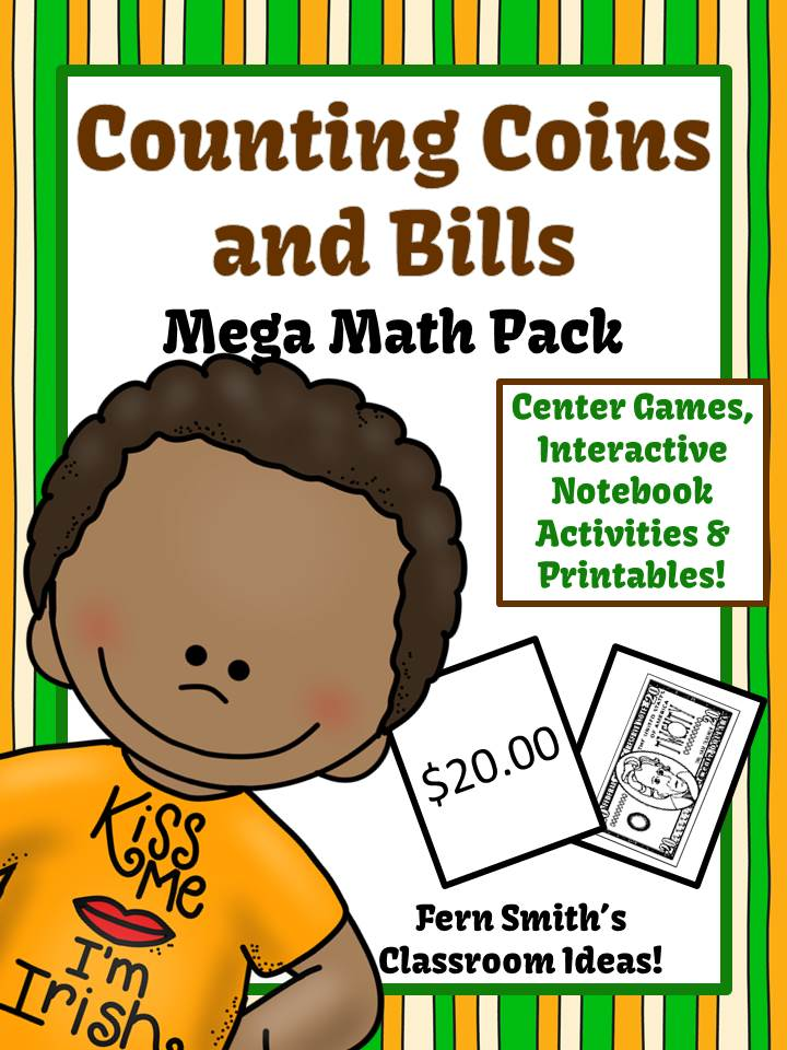 St Patricks Day Counting Coins and Bills Mega Math Pack
