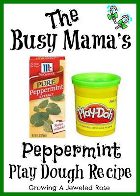 peppermint play dough recipe- craft reipes