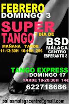DOMINGO 17 FEBRERO, SOLO TANGO EN BSD BAILAS MÁLAGA CENTRO.