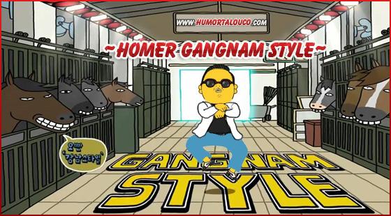 Compilação com as diversas versões e paródias de Gangnam Style - Homer Simpson