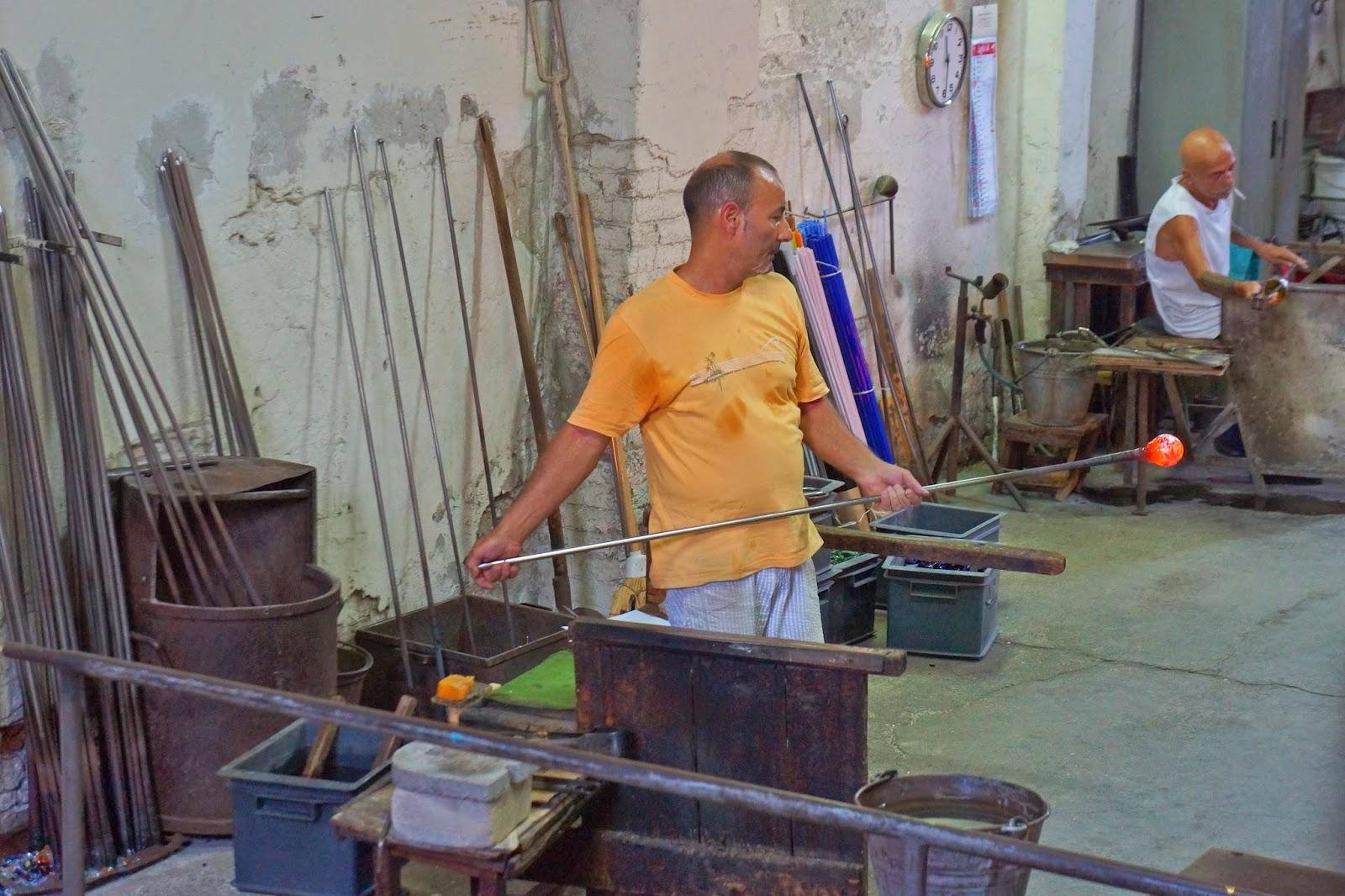 Glassfactory in Murano, Italy.