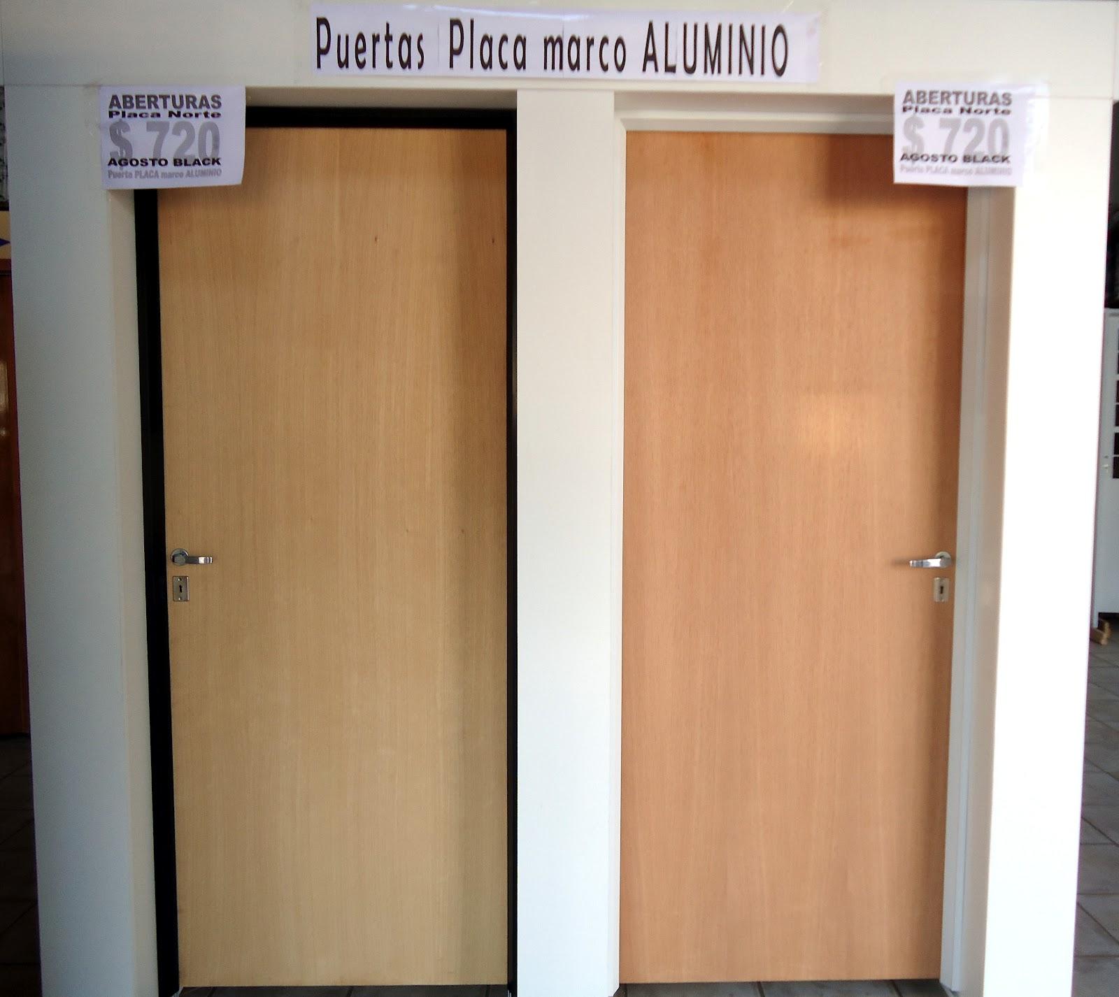 Puertas Placa Marco ALUMINIO | ABERTURAS PLACA NORTE