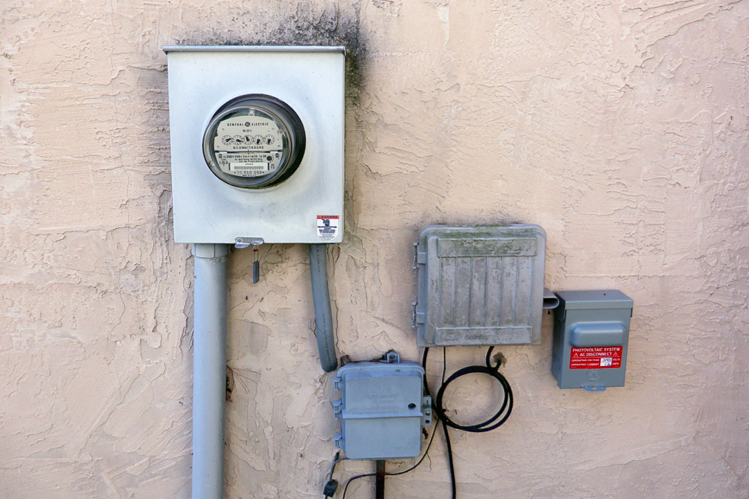 Electric Meter On House : Another side of this life adding solar part installation