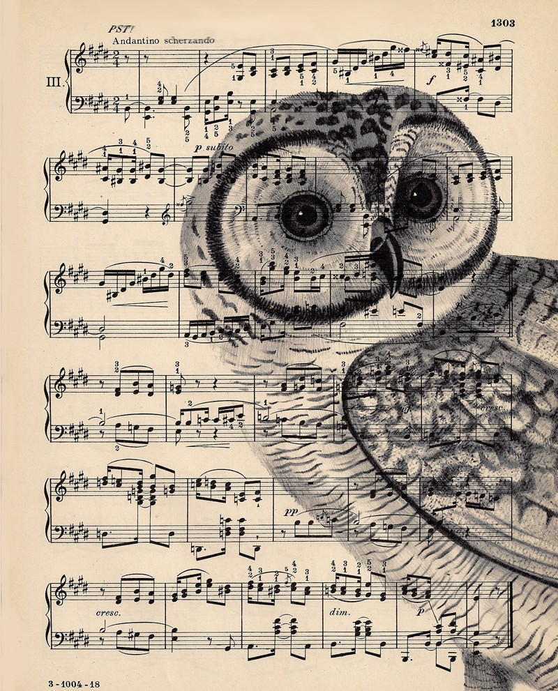 Dishfunctional Designs Upcycled Sheet Music Crafts