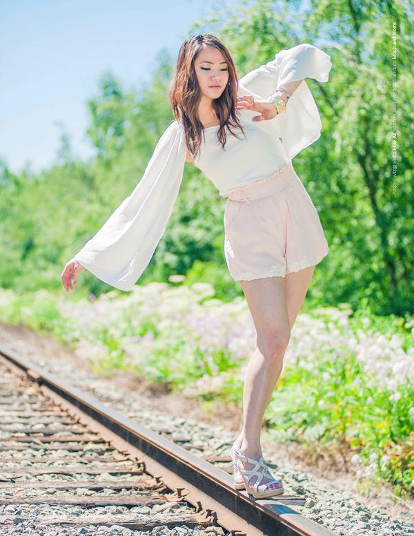 jasmine zhu stylist portfolio summer outfit photoshoot, vancouver fashion blog