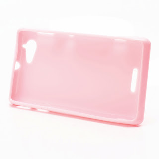 TPU Jelly Case Cover for Sony Xperia L S36h C2105 C2104 - Pink